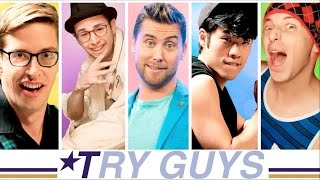 The Try Guys 90s Boyband Music Video Challenge
