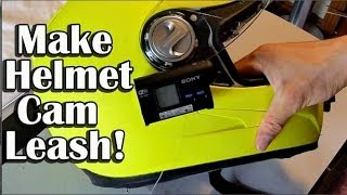 getlinkyoutube.com-How To Make Helmet Camera Leash - Sony Action Cam Leash - Pedal Tape Mount