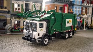 getlinkyoutube.com-First Gear Mack MR Wittke Superduty Front Load Garbage Truck