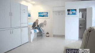in soli 14 mq: cucina armadio  tre letti singoli - zona pranzo - cabina bagno monoblocco