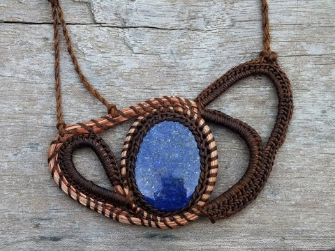The process of becoming - How to crochet jewelry & Pine needles jewelry By AmorArt