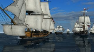 getlinkyoutube.com-Naval Action - Battle of Trafalgar, 40 Ships!