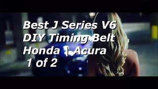getlinkyoutube.com-BEST DIY Honda Acura V6 J Series Timing Belt Replacement PART 1 | 19200-RDV-J01 | Bundys Garage