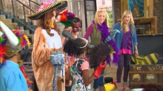 "getlinkyoutube.com-Olivia Holt (""Girl Vs. Monster"") Monstober Shriek-Tacular Stopby With ""Jessie"" cast"