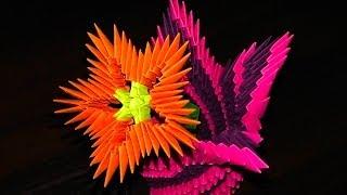 getlinkyoutube.com-3D origami flowers (flower) a master class for beginners