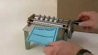 getlinkyoutube.com-Hand Driven Label Paster - Glue Machine