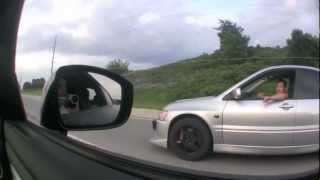 getlinkyoutube.com-Nissan GT-R vs. Lancer Evo (500+whp)