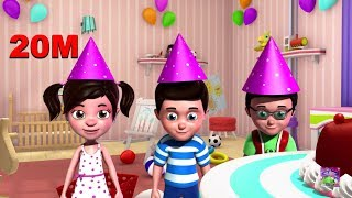 getlinkyoutube.com-happy birthday song 3D Nursery Rhymes for Kids