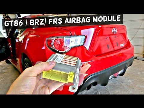GT86 SUBARU BRZ SCION FRS AIR BAG MODULE REMOVAL REPLACEMENT  AIRBAG MODULE