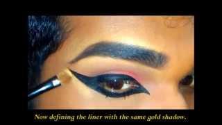 getlinkyoutube.com-Indian Dance Makeup; Eye