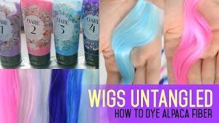 getlinkyoutube.com-Wig Making for Dolls - How to dye alpaca fiber