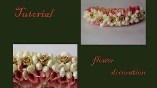getlinkyoutube.com-Tutorial of rose petals and jasmine decorations