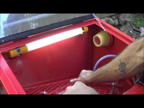 Tractor Supply Job Smart Sand Blasting Cabinet Unboxing Assembly and Initial Review