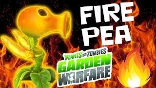 getlinkyoutube.com-Fire Pea! Level 10 Character Unlocked! Plants vs. Zombies Garden Warfare Team Vanquish Gameplay