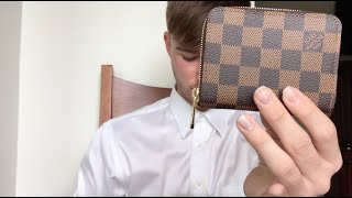 getlinkyoutube.com-Louis Vuitton Zippy Coin Purse Damier Ebene