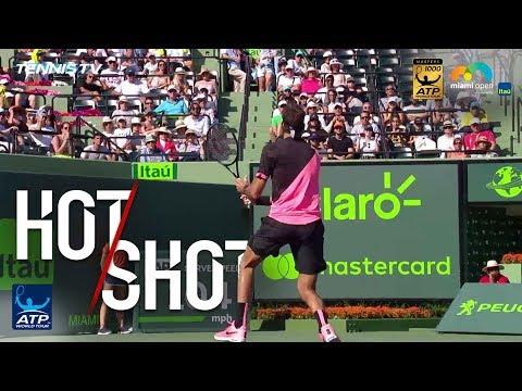 Hot Shot: Delpo Flicks No-Look Backhand Winner In Miami 2018