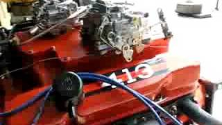 getlinkyoutube.com-Mopar 413 Max Wedge engine on test stand