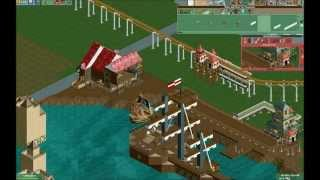 getlinkyoutube.com-RCT2 Time Lapse Part 1 : Carbon Heights - Pirate Cove