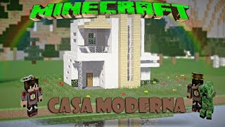 getlinkyoutube.com-Minecraft-Casa Moderna De Cuarzo /Facil / Tutorial 1.8.8