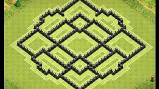 getlinkyoutube.com-Clash Of Clans - Townhall 8 Best War Base (4 Mortars)