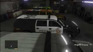 getlinkyoutube.com-GTA 5: FIB Garage Full of The Best Heist Police Raid Vehicle On (GTA V)