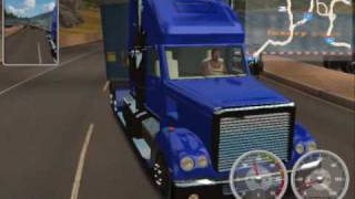 getlinkyoutube.com-Awful PC Games: 18 Wheels of Steel American Long Haul Review