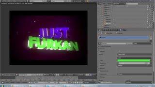 getlinkyoutube.com-Blender Nasıl INTRO Editlenir?Ve Render süresi kısaltma ve yazı rengi değiştirme !