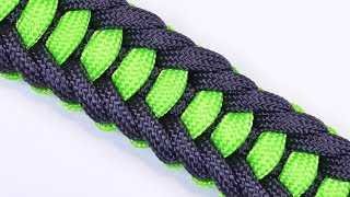 getlinkyoutube.com-Make the Jagged Ladder Paracord Survival Bracelet with Buckle - BoredParacord