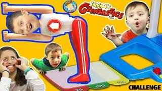 getlinkyoutube.com-FANTASTIC GYMNASTICS CHALLENGE!  Losers Eat Baby Shawn Poop Diaper?  FUNnel Vision Flips & Fails Fun