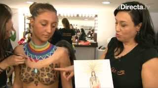 getlinkyoutube.com-Body painting, el arte de decorar el cuerpo