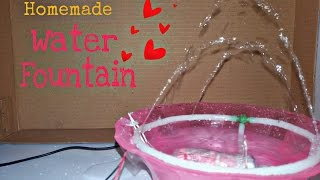 How to make fountain at home