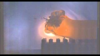 getlinkyoutube.com-12 gauge cut shell vs. ballistic gelatin Slow Motion
