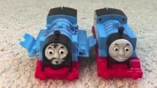 getlinkyoutube.com-Crash & Repair Thomas the train  motorized Trackmaster train review unbox play
