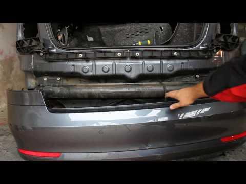 Как снять задний бампер на Skoda Octavia A5 FL