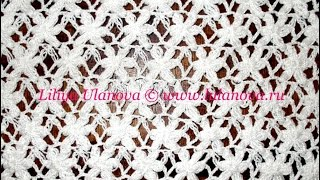 Узор Цветочки - Crochet pattern flowers - вязание крючком