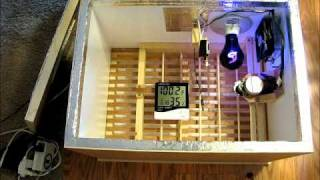 getlinkyoutube.com-Homemade Incubator with Fan, Thermostat, and Automatic Egg Turner
