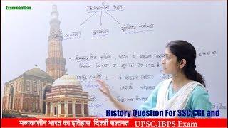मध्यकालीन भारत इतिहास Delhi Sultanate For SSC UPSC & All Government Exam
