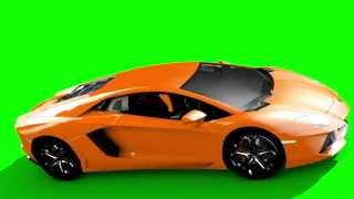 getlinkyoutube.com-Green Screen Supercar Lamborghini Aventador HD - Footage PixelBoom