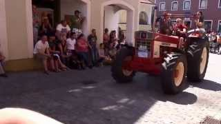 Oldtimertreffen Kallmünz Sommerfest 2015 - Ausfahrt der Traktoren (Originalsound)