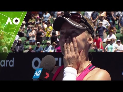 Lucic-Baroni`s emotional on court interview (QF) | Australian Open 2017