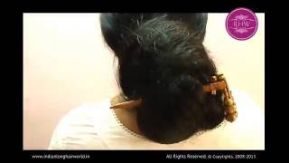 getlinkyoutube.com-ILHW Vaishali Hair Styling and Hair Playing Video