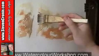 getlinkyoutube.com-Watercolour Landscape Painting Demo - Scottish Stream Part 1