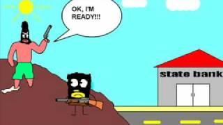 getlinkyoutube.com-Spongebob robs a state bank