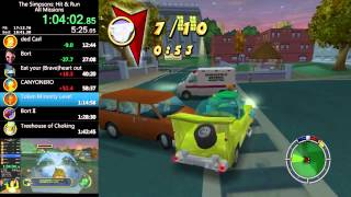 getlinkyoutube.com-The Simpsons: Hit & Run - All Missions Speed Run - 1:42:03