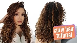getlinkyoutube.com-My CURLY Hair Routine
