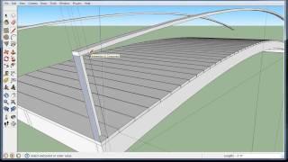 getlinkyoutube.com-Build a wooden arch bridge in Google Sketchup