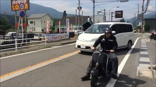 getlinkyoutube.com-2015 Low Slot ベスパ Vespa ツーリング ロースロット 鉄スクーター