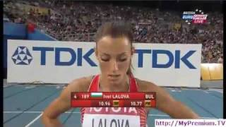 getlinkyoutube.com-Ivet Lalova Advances to Final -- 100m Daegu WC Athletics  2011