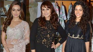 getlinkyoutube.com-Sana Khan, Saiyami Kher At Payal Singhal & Jewellery Designer Shaheen Abbas's Festive Preview