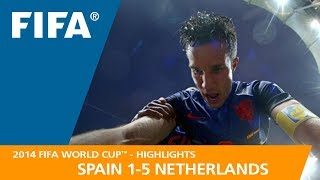 SPAIN v NETHERLANDS (1:5)  -  2014 FIFA World Cup™ width=